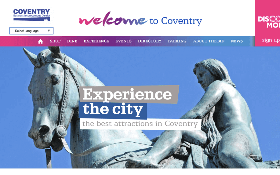 Coventry BID – New Directory Website