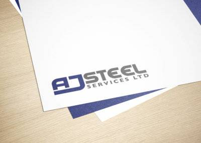 AJ Steel Services Logo Design