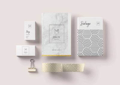 MACK Salon Branding & Stationery