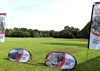 Sports In Schools Flags & Pop up Banners