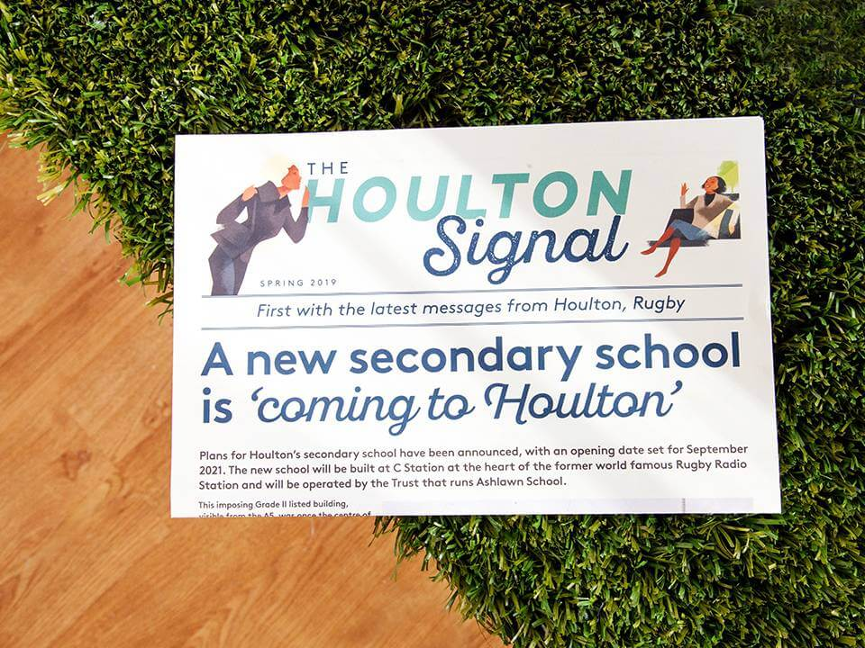 Printed brochure for Houlton housing estate in Rugby