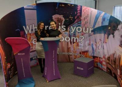 curved fabric display exhibition stands