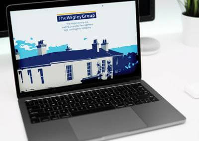 The Wigley Group website produced by oxygen graphics in Rugby