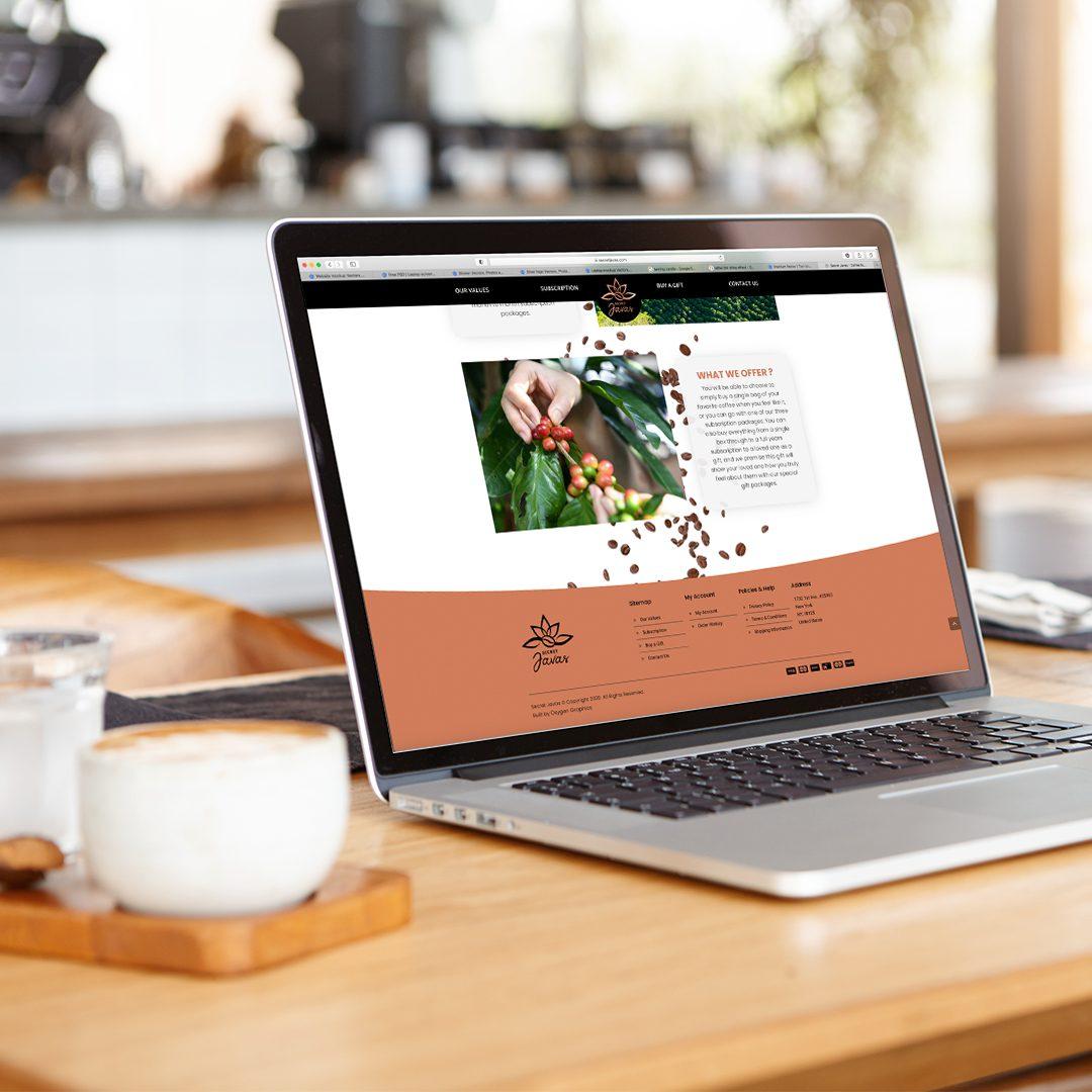 Secret Java Shopify Website